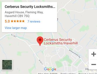 Cerberus Security locksmiths Haverhill